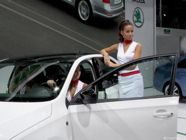 Hôtesse Mondial 2012 stand Skoda