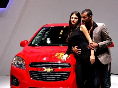 Hôtesse Mondial 2012 stand Chevrolet